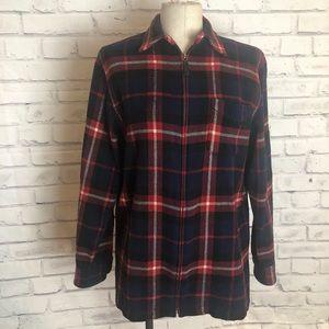 Red Plaid Ralph Lauren wool zip up jacket